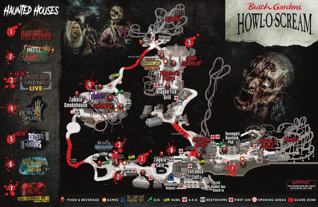 Preview Of Howl O Scream 2017 At Busch Gardens Touring Central Florida