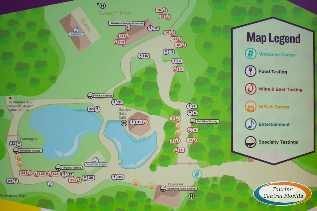 Busch Gardens Tampa Food Wine Festival 2019 Map - Busch Gardens Shuttle Pick Up Points