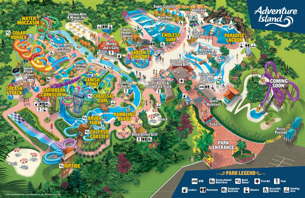 Adventure Island Park Map 2021 001 Touring Central Florida