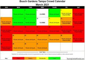 Busch Gardens Tampa Crowd Calendar 2022.Busch Gardens Tampa Crowd Calendar March 2021 005 Touring Central Florida
